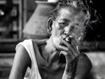 Grandma while smoking